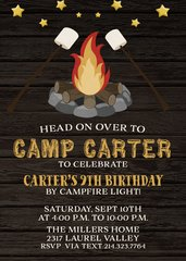 Bonfire Birthday Invitation