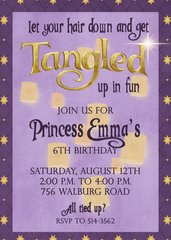 Tangled Birthday Invitation
