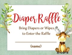 Diaper Raffle Card-Baby Moose