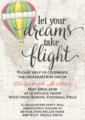 Dreams Take Flight Graduation Invitation