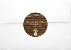 Sunflower Return Address Sticker