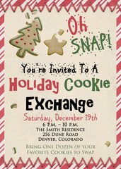 Oh Snap Holiday Cookie Party Invitation