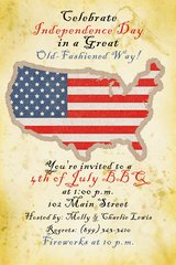 Old Fashioned Fourth of July Party Invitation