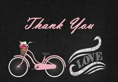 Pink Bike Thank You Card