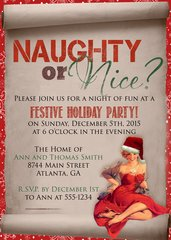 Naughty or Nice Christmas Party Invitation