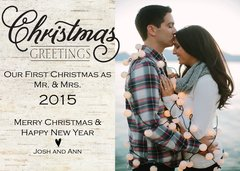 Our First Christmas Greeting Card