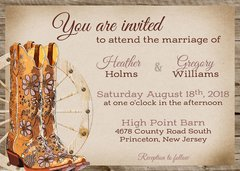 Cowboy/Western Wedding Invitation