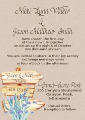 Wood Sign Wedding Invitation