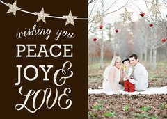 Peace, Joy & Love Greeting Card
