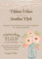 Watercolor Poppies Wedding Invitation