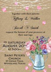 Watering Can Wedding Invitation