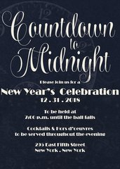 Countdown Till Midnight New Year Invitation