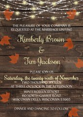 Outdoor Fall Wedding Invitation