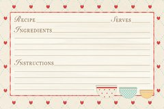 Red Hearts Kitchen Recipe Card