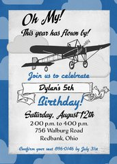 BiPlane Birthday Invitation