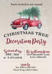 Christmas Tree Decoration Party Invitation
