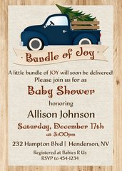 Bundle of Joy Baby Shower Invitation