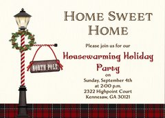 Lamp Post Holiday Housewarming Invitation