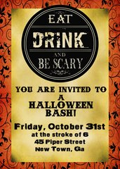Eat Drink Halloween Party Invitation