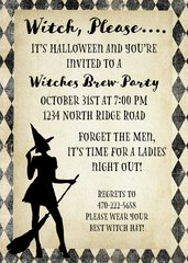 Witch Halloween Party Invitation