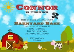 Barnyard Birthday Bash Invitation