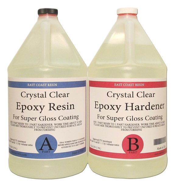 Crystal Clear Epoxy Resin Kit 2 gallons ( 1 gal resin and ...