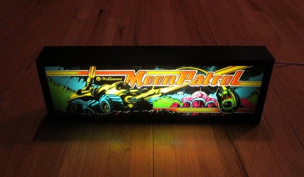 Moon Patrol Classic Arcade Art