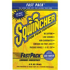 SAF872 SQWINCHER, FAST PACK 6oz Packets  JUST ADD WATER 50/BX (Variety of FLAVOURS)