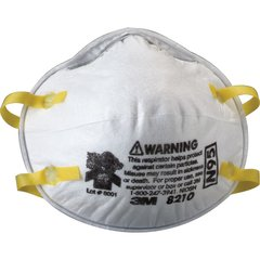 SE260 3M 8210 N95 Particulate Respirators 20/BX REGULAR SIZE
