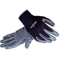 SAP933 Black Nylon Nitrile Palm Coated Gloves, Size (7-11)