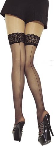 Sheer Back Stocking (Item#:sk-4s119)