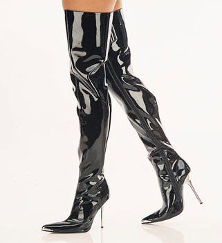 Chrome Heel Boots (Item#:p-heshe-3p010)