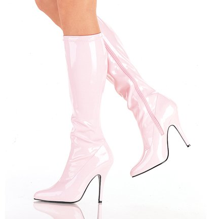 Plain Stretch Knee Boot (Item#:p-seduction-2p000)