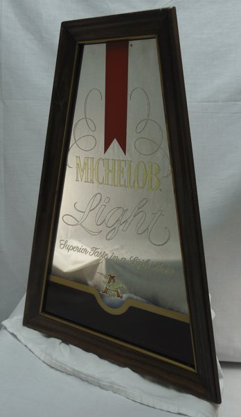 Michelob light odd shaped mirror arden scott records Odd shaped mirrors