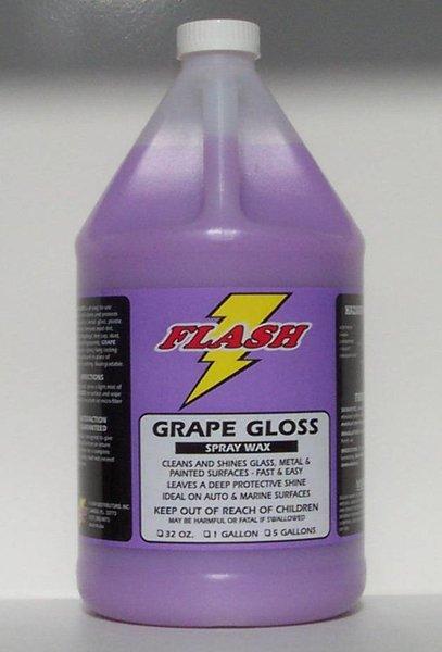 Flash Grape Gloss Teflon Spray Wax Quick Detailer Flash