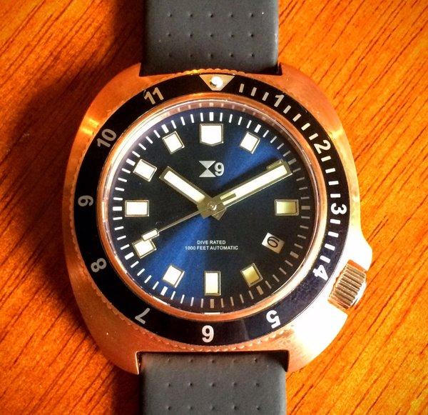 Tc 9 1970s diver in bronze tc 9 watches - Bronze dive watch ...