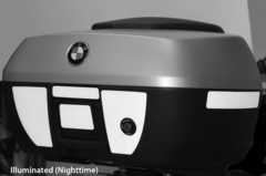 RK-17 BMW Motorcycle Reflective Kit: -- -- Fits the rear and sides of the 49-liter BMW Topcase/trunk