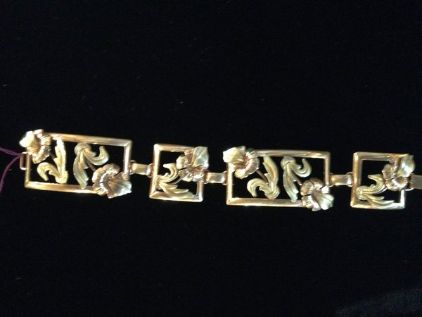 Gold Filled Art Nouveau Bracelet