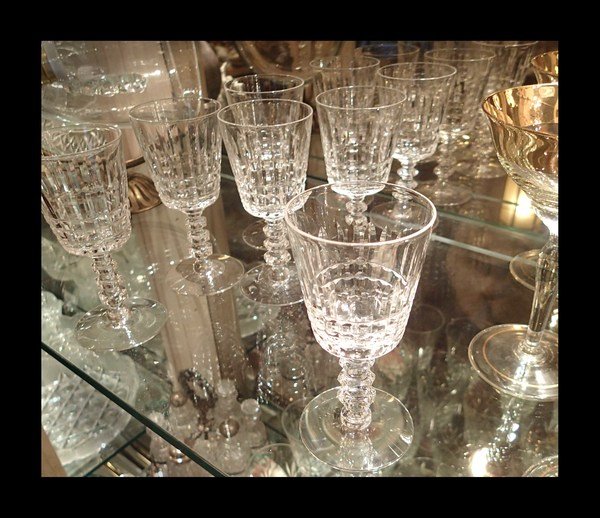 8 Hand Cut Crystal Cordial/Wine Glasses