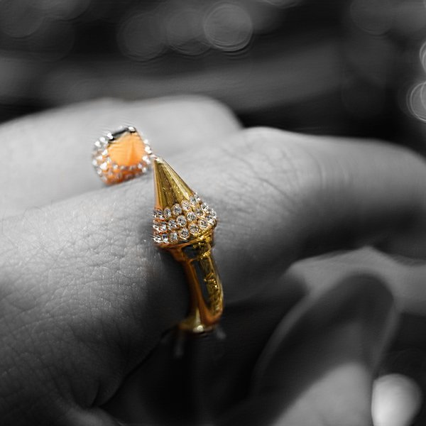 Gold Spiked Ring