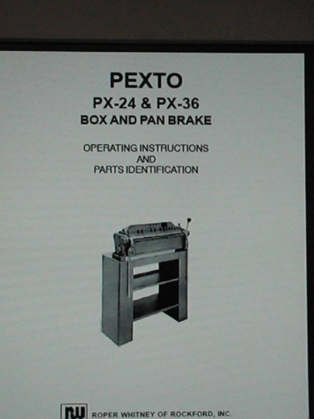 Pexto Px 24 Amp Px 36 Box And Pan Brake New And Used Machinery
