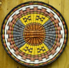 Hand Woven Hopi Wicker Basket with Belt Design