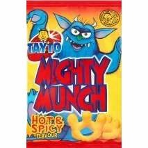 Mighty Munch. Hot and Spicy snacks