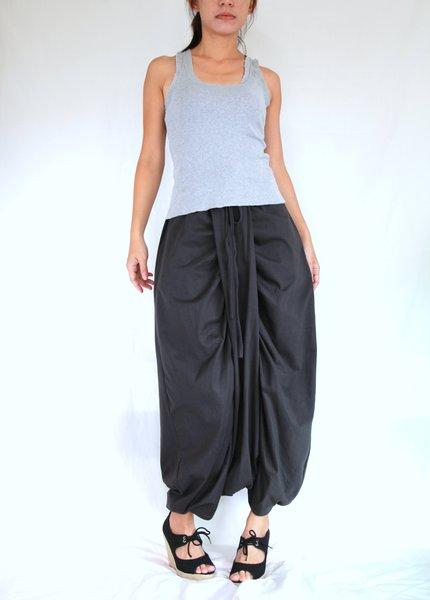 Women Grey Harem Pants Sarouel Baggy Festival Genie Loose ...