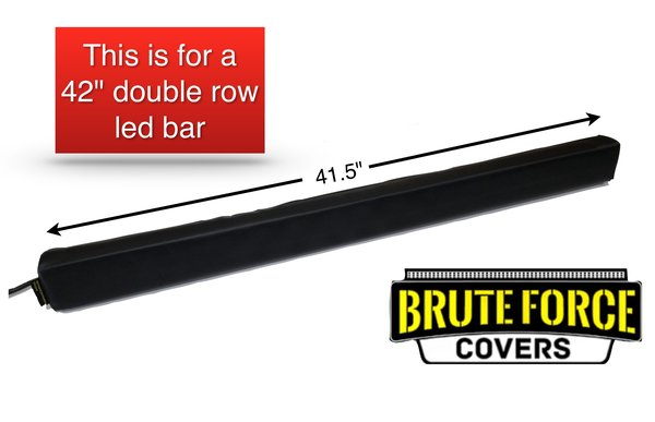 42 Inch Double Row Straight Led Light Bar Cover Brute