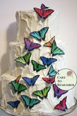 20 edible butterflies, tiger swallowtails for cake decorating, cookies, cupcake decorating, cake pops. Wafer paper, wedding cake toppers.