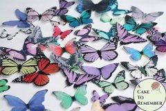 50 assorted colors edible butterflies for butterfly cakes and cupcakes