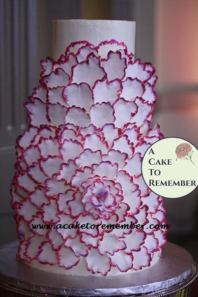 Extra Large Gumpaste Flower for Wedding Cakes, DIY wedding cakes