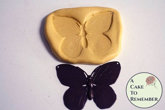 Butterfly mold for cake decorating, cupcake decorating or polymer clay