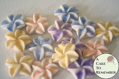 "Small edible gumpaste sugar flowers, 1/2"" across,  for cake decorating"
